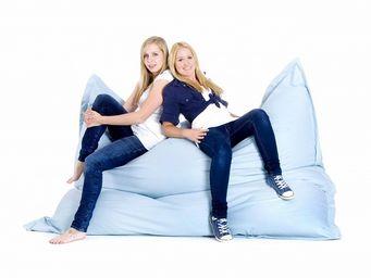 BELIANI - bleu clair - Floor Cushion