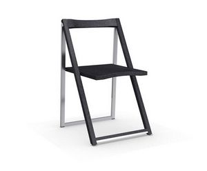 Calligaris - chaise pliante skip graphite et aluminium satiné d - Folding Chair