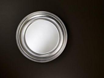 WHITE LABEL - rosie miroir mural design en verre couleur argent - Porthole Mirror