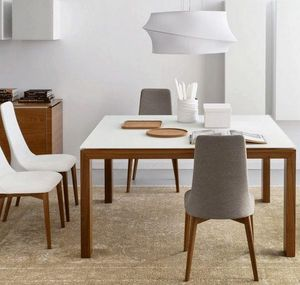 Calligaris - table repas sigma glass 140x140 de calligaris en v - Round Diner Table