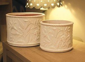 Les Poteries D'albi - fleur de lys - Plant Pot Cover