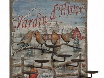 Interior's - enseigne porte bougies oiseaux - Candle Holder