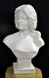 Demeure et Jardin - buste femme cheveux longs - Bust Sculpture