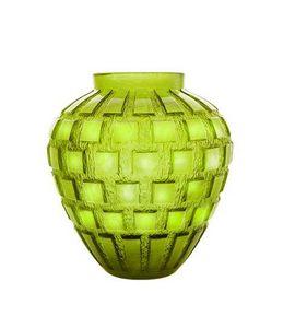 Daum - vase rythmes vert  - Decorative Vase