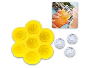 WHITE LABEL - bac à glaçons en forme de smiley ou gateau chocol - Ice Tray