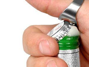 WHITE LABEL - bague décapsuleur révolutionnaire deco maison uste - Bottle Opener