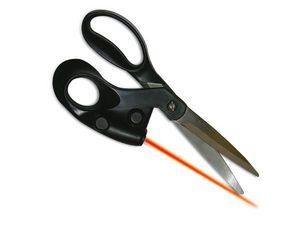 WHITE LABEL - ciseaux intégrant un laser coupe droite objet dec - Sewing Scissors