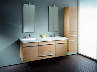 UsiRama.com - meuble salle de bain double vasques macentre 1.3m - Double Basin Unit