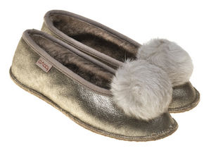 BABBI - coyote mosaic silver - Slippers