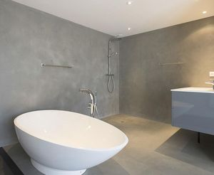 Waxed concrete for wall