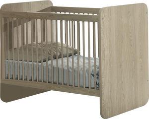 WHITE LABEL - lit bébé évolutif coloris chêne d?hiver design - Baby Bed