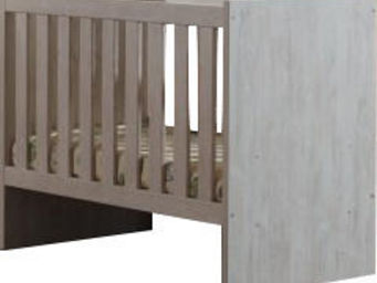 WHITE LABEL - lit bébé transformable 60x120 coloris chêne clair - Travel Cot
