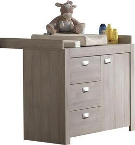 COMFORIUM - commode avec plan à langer coloris chêne clair - Nursery Table