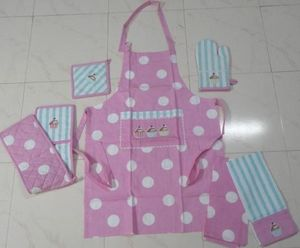 ITI  - Indian Textile Innovation - dots with stripe - Kitchen Apron