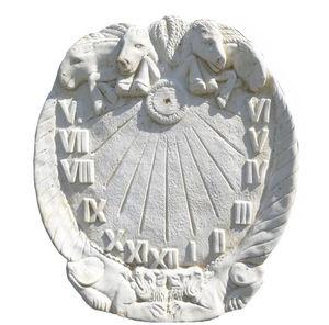 DECO GRANIT - cadran solaire en pierre blanche reconstituée 65x4 - Sundial
