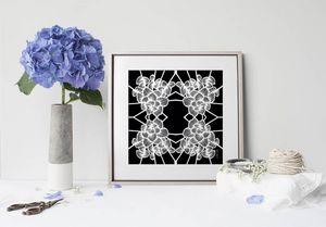 la Magie dans l'Image - print art graphic flowers noir - Poster