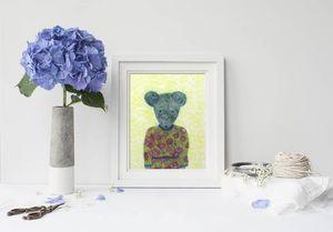 la Magie dans l'Image - print art ma petit souris fond fluo - Poster