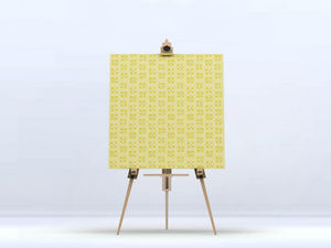la Magie dans l'Image - toile lotus jaune foncé - Digital Wall Coverings