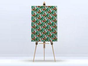 la Magie dans l'Image - toile pétales émeraude - Digital Wall Coverings