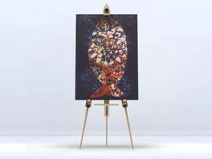 la Magie dans l'Image - toile poisson batik bleu - Digital Wall Coverings
