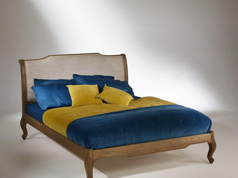Robin des bois - lit double 160 + sommier, chêne, eliza - Double Bed