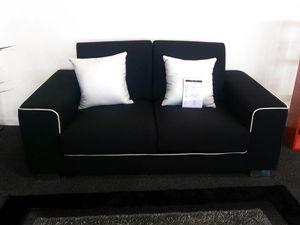 WHITE LABEL - canapé 2 places en tissu angel - 2 Seater Sofa