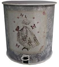 Antic Line Creations - poubelle ancienne style romantique - Bathroom Dustbin