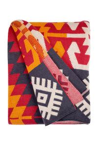 FABHABITAT - plaid coton olaias multicolore - Tartan Rug