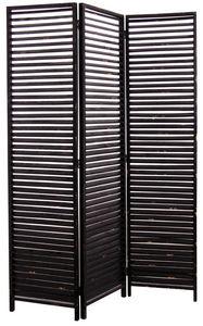 Aubry-Gaspard - paravent 3 panneaux en bois vieilli - Screen