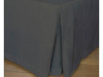 Liou - cache-sommier pli creux gris souris - Bedskirt