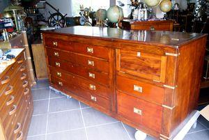 La Timonerie - grand meuble de m�tier table � cartes en acajou. d�but xx �me. - Writing Desk