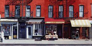 Nouvelles Images - affiche four shops on 11th avenue 2003 - Poster