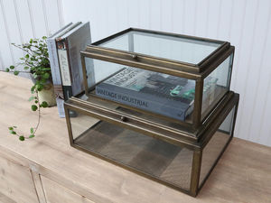 CHIC ANTIQUE - vitrine en métal - Museum Display Case