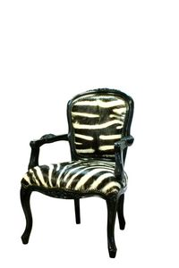 WOOD AND STEEL -  - Cabriolet Chair