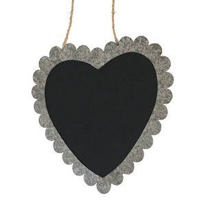 CHEMIN DE CAMPAGNE - tableau ardoise cour en zinc de cuisine - Wall Mounted Blackboard