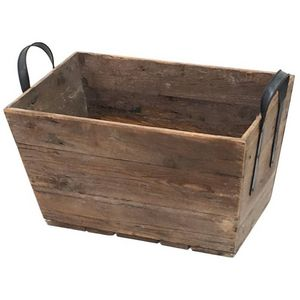 CHEMIN DE CAMPAGNE - grand casier panier caisse en bois 69x40x43 cm -