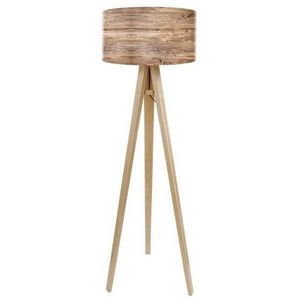 Mathi Design - lampadaire bois nature - Trivet Floor Lamp
