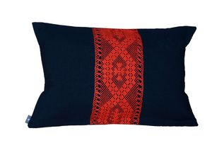 La P'tite Fabrik  LPF - dentelle noir/orange - Rectangular Cushion