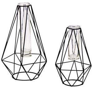 Aubry-Gaspard - soliflore goutte en métal et verre (lot de 2) - Stem Vase