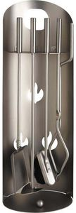 Aubry-Gaspard - serviteur de cheminée design 4 accessoires - Fireplace Set