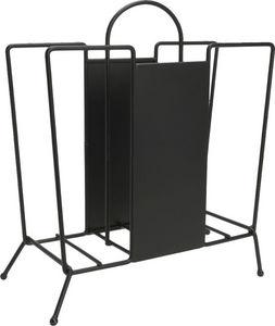 Amadeus - porte revues déco métal noir - Magazine Rack