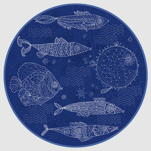 Design Atelier - fische im meer - Decorative Platter