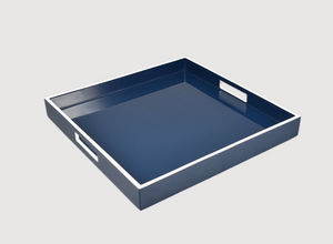 Pacific Connections - navy blue white - Serving Tray