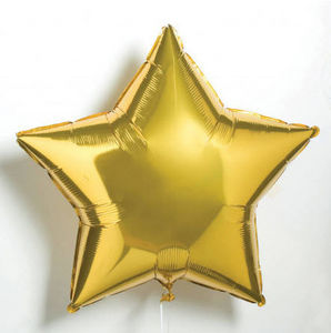 LITTLE LULUBEL - gold star £3.50 - Inflatable Ball
