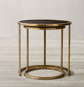 RESTORATION HARDWARE - atwood nesting  - Round Coffee Table