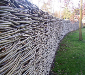 Natural fiber screen