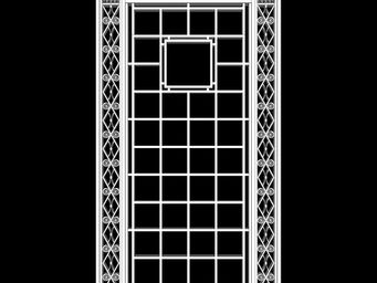 Archipedia - 1930s grille - 2 Door Glass Door