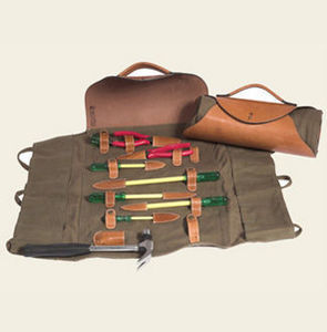Mufti - havana leather roll-up toolkit - Tool Bag