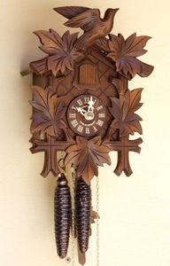 Horlogis - coucou 1 jour edelweiss peint � la main - Cuckoo Clock
