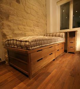 Matahati - lit à tiroirs - sur mesure - Bed With Drawers